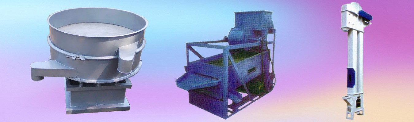 Cyclone Dust Collectors, Centrifugal Sieve, Vibro Screens, Emery Stones